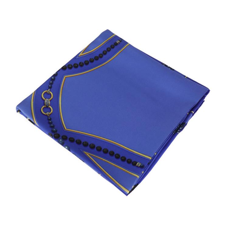 CARTIER カルティエ 2020新作 スカーフ 新品未使用展示品 シルク ブルー 評価 中古 マルチカラー 本物保証
