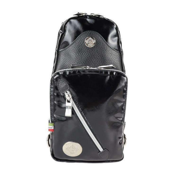 Orobianco オロビアンコ ボディバッグ 超美品 コーティングキャンバス 爆買い送料無料 本物保証 レザー ブラック 中古 公式ストア