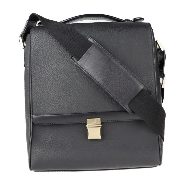 信頼 Dunhill ダンヒル ショルダーバッグ 超美品 レザー 年間定番 中古 2way ハンドバッグ 本物保証 ブラック