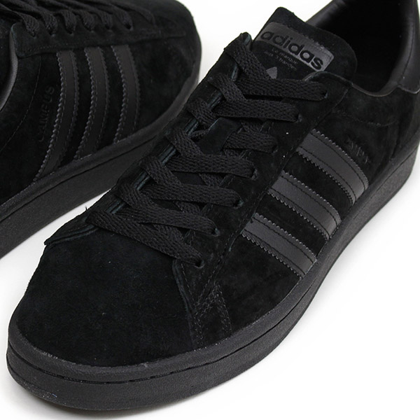 buy popular cd59a 1af64 adidas Adidas CAMPUS SUEDE men sneakers ALL BLACK campus Brachs aide  leather shoes genuine leather black BZ0079