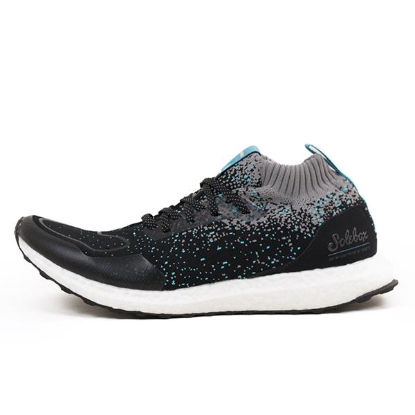 adidas アディダス CONSORTIUM x PACKER SHOES × SOLEBOX ULTRA BOOST MID S.E. メンズ スニーカー BLACK/BLUE ウルトラ ブースト ブラック ブルー ソールボックス パッカーズ 男性用 靴 送料無料 CM7882