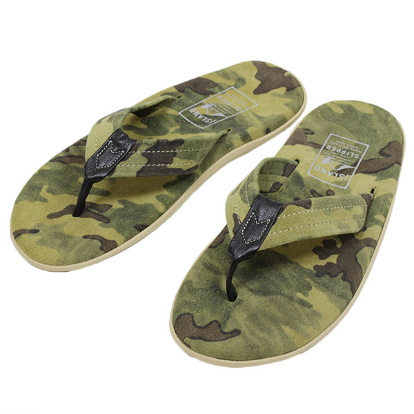fb258c7cf5ce8 Beach resort made in ISLAND SLIPPER island slippers PT203C men suede  leather sandals OLIVE CAMO sandals camouflage duck military handmade MADE  IN ...