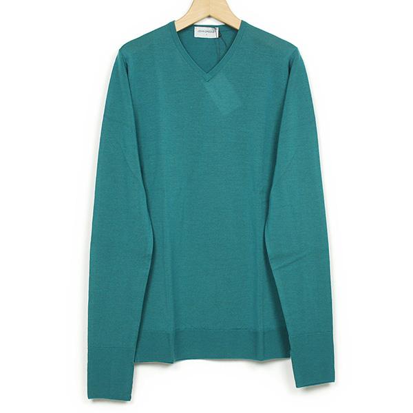John Smedley ジョンスメドレー BOWER メリノウール メンズ Vネックニット DEAN GREEN グリーン メンズ セーター カットソー 男性用 英国製 送料無料 緑 MADE IN ENGLAND UK