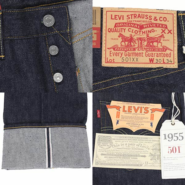 10e617d3 ... MADE IN USA made in the Levi's Vintage Clothing 501 XX 1947 MODEL  leather patch men ...