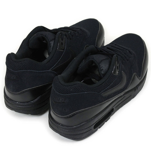 Shoes 537,383 020 for the NIKE Nike AIR MAX 1 ESSENTIAL sneakers [TRIPLE BLACK] shoes men Air Max 1 essential oar black black running foreign