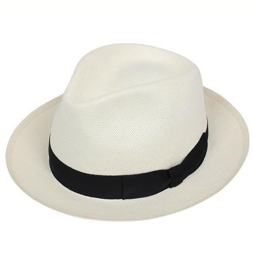 Tesi テシ 1503 つば広 和紙 ペーパーストローハット WHITE/BLACK メンズ 帽子 ホワイト ブラック 日本伝統 イタリア製 老舗 男性用 春夏 白 MADE IN ITALY 送料無料 通販