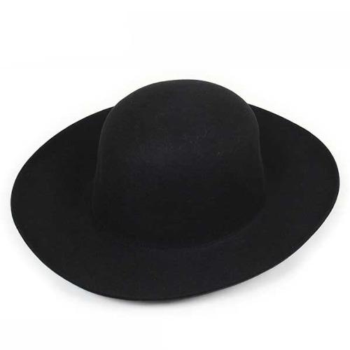 Tesi テシ 1504 ロングブリム ラビットファーハット BLACK メンズ 帽子 ぼうし ブラック イタリア製 ウール ハット WOOL HAT 中折れ フェドラ ロングブリム 老舗 男性用 秋冬 MADE IN ITALY 送料無料