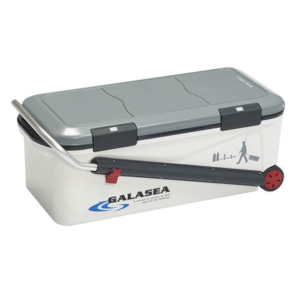 【送料無料】GS-A50GY/WH【クーラーボックス】GALASEA(ギャラシー) 50L アクティブシャフト 大型 大容量 キャスター付き 伸縮ハンドル ペットボトル 缶ジュース 保冷力 アウトドア レジャー 行楽 釣り フィッシング