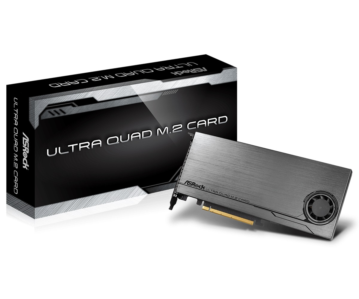 ASRock Ultra Quad M.2 Card(IO2233) ASRock Ultra Quad M.2 Card