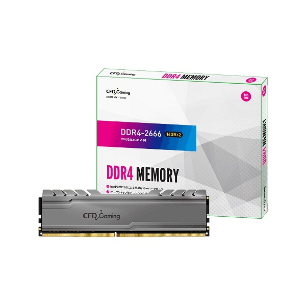 <title>合計5000円以上送料無料 ※一部地域除く CFD W4U2666CX1-16G 出群 Gaming CX1シリーズ DDR4-2666 デスクトップ用メモリ 16GBx2 Heatsink搭載</title>