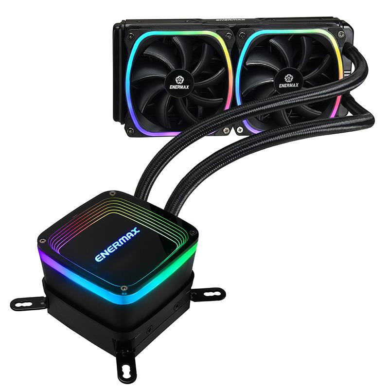 ENERMAX ELC-AQF240-SQA AQUAFUSION アドレッサブル型RGB LED搭載の水冷一体型ユニット