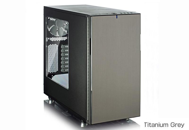FractalDesign FD-CA-DEF-R5-TI-W [FractalDesign Define R5 Titanium grey Window side panel]高い拡張性と多くの冷却オプションに対応し透明アクリルのサイドパネルを採用したミドルタワー型PCケース(グレー)