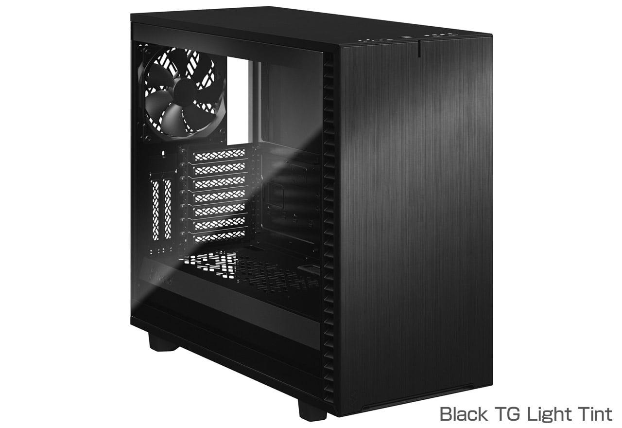 FractalDesign FD-C-DEF7A-02 [Define 7 Black TG Light Tint]洗練されたケースデザイン。強化ガラスのサイドパネルを搭載し、柔軟性のある拡張性を備えたミドルタワー型PCケース(ブラック)(CS7695)