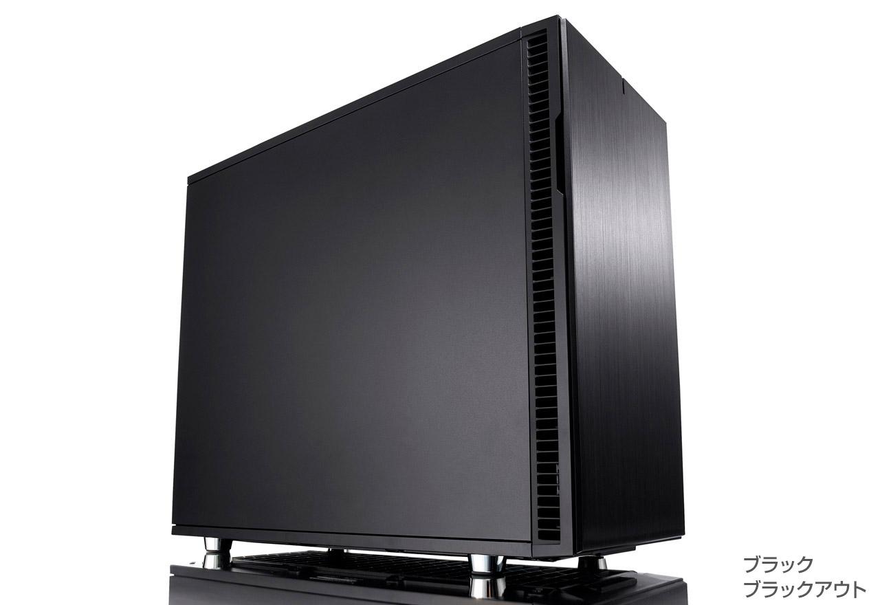 FractalDesign FD-CA-DEF-R6-BK [FractalDesign Define R6 - Black]スタイリッシュなケースデザイン。新たな設計による、より進化した静音性と拡張性を備えたミドルタワー型PCケース(ブラック)
