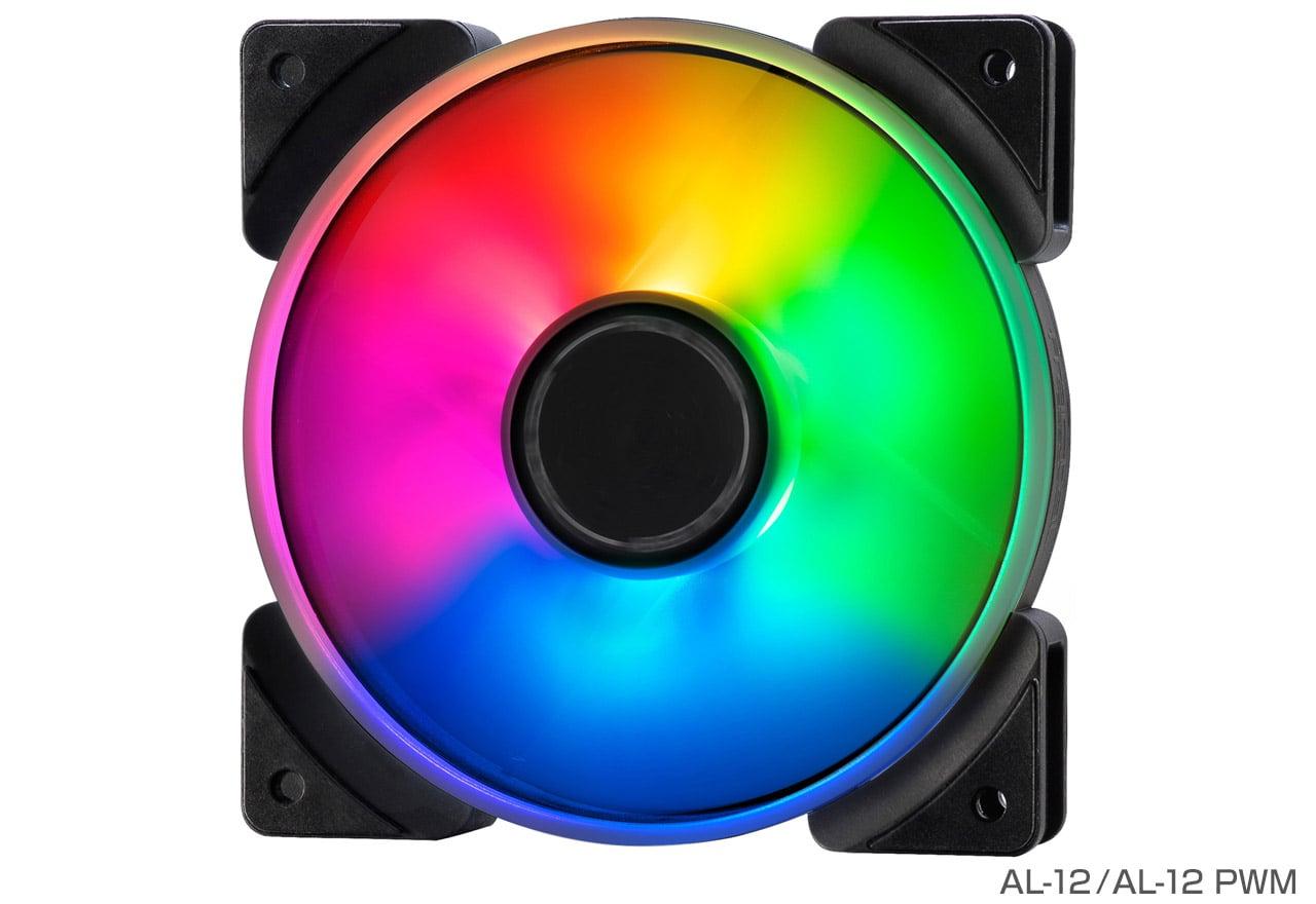 FractalDesign FD-FAN-PRI-AL12-PWM-3P Prisma AL-12 PWM 3P 鮮やかなライティングを実現するアドレサブルRGB LEDを搭載。静音性に優れ長期間での使用に最適な120mm径ファン PWM 3パック(FN1236)