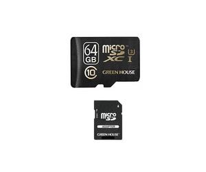 グリーンハウス GH-SDMRXCUA64G 4K動画撮影に最適 UHSスピードクラス3対応の高速microSDXCカード(64GB)