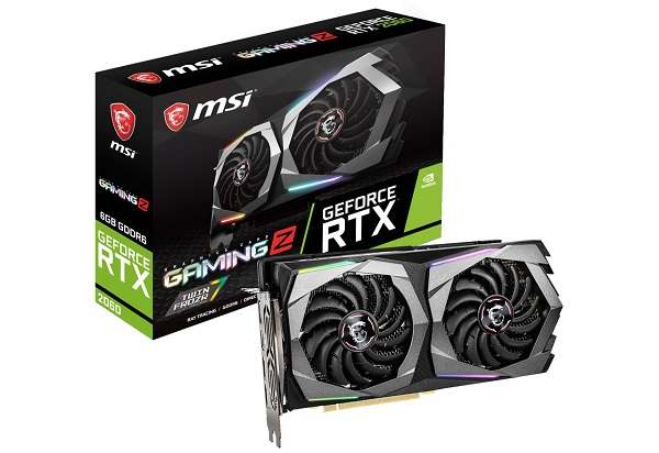 MSI GeForce RTX 2060 GAMING Z 6G NVIDIA GeForce RTX 2060を搭載。オリジナルクーラー「TWIN FROZR 7」を採用するオーバークロック仕様のグラフィックボード (VD6856)
