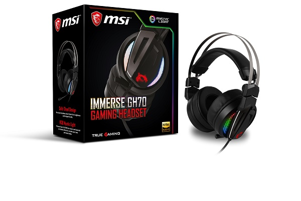 MSI Immerse GH70 GAMING Headset (SP786) MSI GAMINGヘッドセット