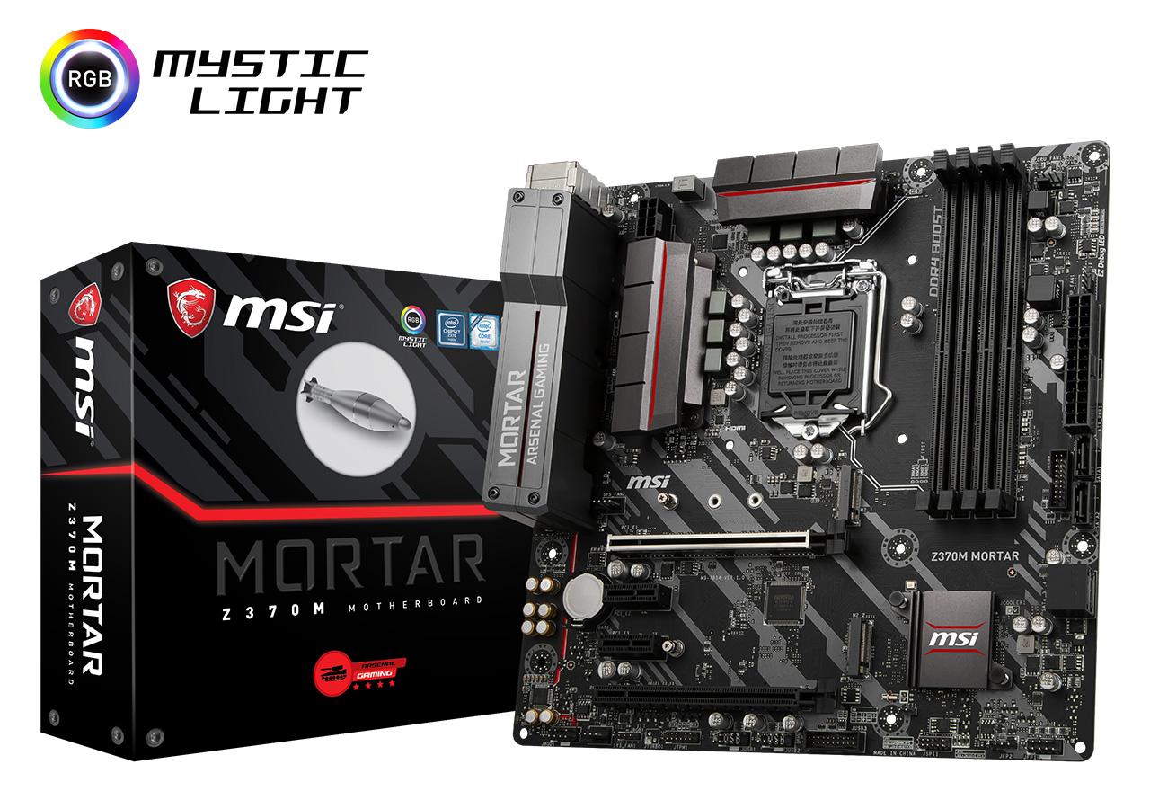 MSI Z370M MORTAR MORTAR (MB4147) Intel Intel Z370チップセット搭載 (MB4147)。ゲーミング向けに豊富な機能を備えたmicroATXマザーボード, ウシブカシ:d1aa7f00 --- municipalidaddeprimavera.cl