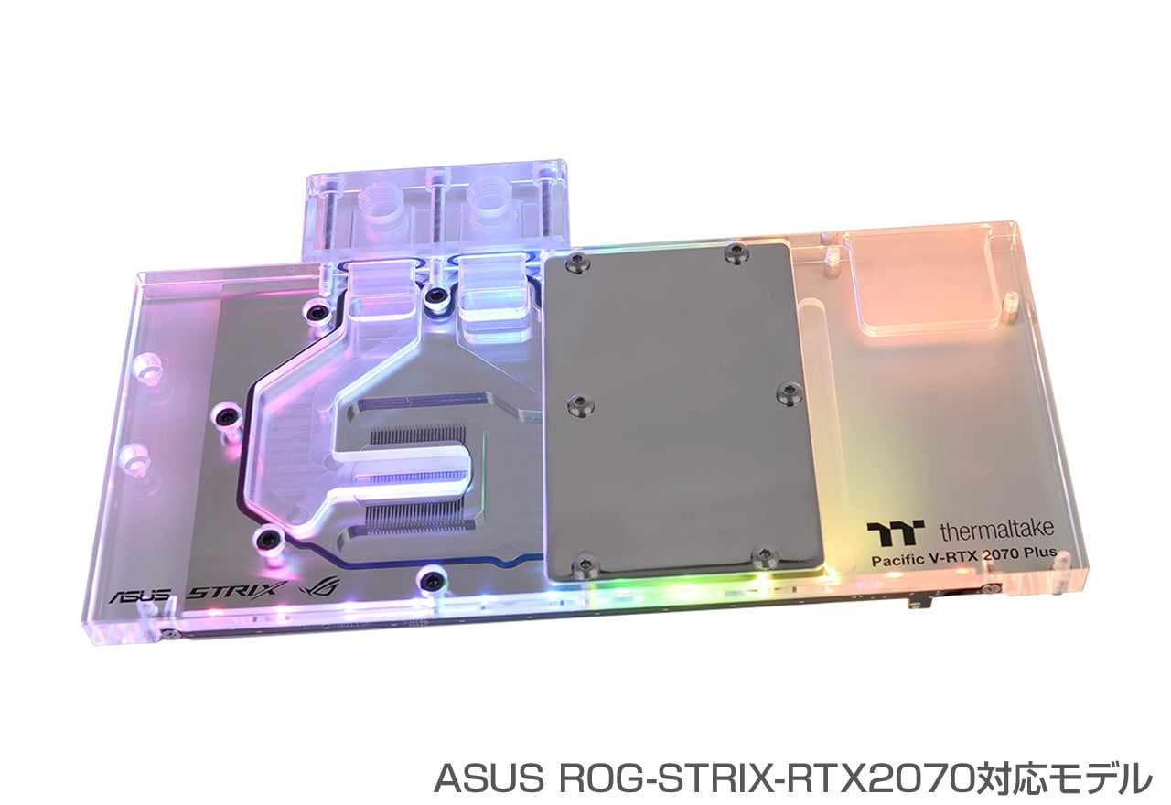 Thermaltake Pacific V-RTX 2070 -ASUS Plus -ASUS Strix- 2070 CL-W254-CU00SW-A 12個のアドレサブルRGB CL-W254-CU00SW-A LEDを装備。ASUS ROG-STRIX-RTXグラフィックボードに対応するウォーターブロック(HS1336), イナシ:050ceb53 --- zagifts.com