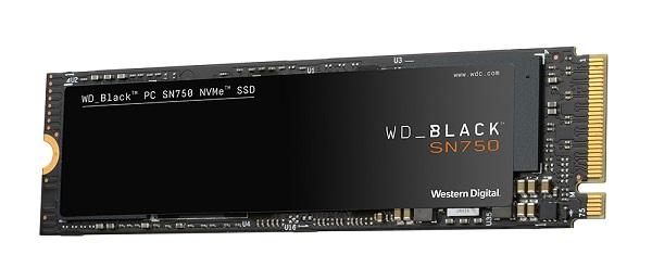 WesternDigital WDS500G3X0C WD Black SN750 SSD M.2 PCIe Gen 3 x4 with NVM Express 500GB M.2 2280