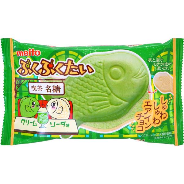 60円 名糖 ぷくぷくたいクリームソーダ味 1箱 10個入 超激安特価 クリームソーダ 高級な たい焼き まとめ買い お菓子