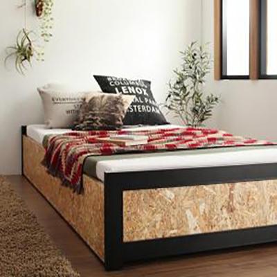 送料無料 すのこベット ベットフレームのみ シングル ヴィンテージデザインOSB Elvin エルヴィン 木製 収納付き シングルベット ベッド ナチュラル 500028223