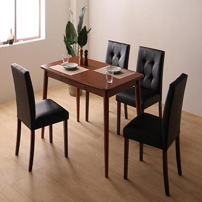 送料無料 さっと拭ける PVCレザーダイニング fassio ファシオ 5点セット(テーブル+チェア4脚) W115 500023738
