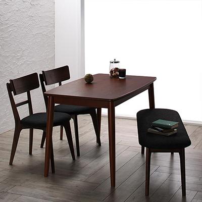 送料無料 モダンデザインダイニング Le qualite ル・クアリテ 4点セット(テーブル+チェア2脚+ベンチ1脚) W115 500023767