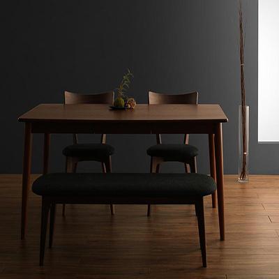送料無料 モダンデザインダイニング Le qualite ル・クアリテ 4点セット(テーブル+チェア2脚+ベンチ1脚) W150 500023768