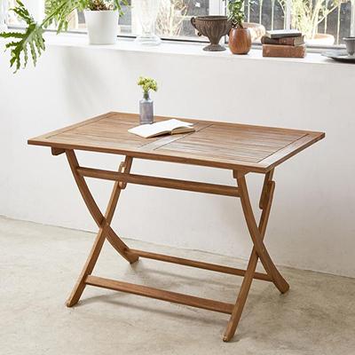送料無料 アカシア天然木 折りたたみ式ナチュラルガーデンファニチャー Relat リラト テーブル W120 *500024512