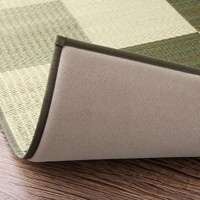 送料無料 厚みが選べる3タイプ 純国産ブロック柄い草ラグ casule カジュール ウレタン12mm 191×250cm 500026606