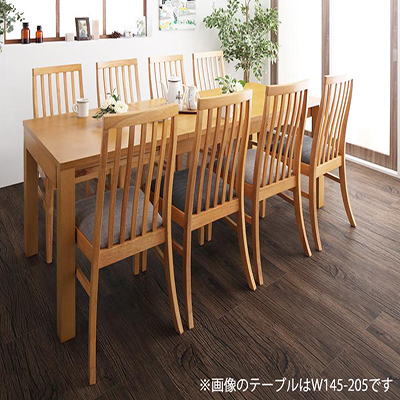 Costa コスタ 3段階伸縮 ハイバックチェア ダイニングテーブル 9点セット(テーブル 幅120-150-180+チェア8脚) 天然木 木製 天板拡張 角型 8人用 500026827 ダイニング 8人掛け 食卓テーブル 伸縮式 伸長式テーブル エクステンションテーブル モダン 北欧 送料無料