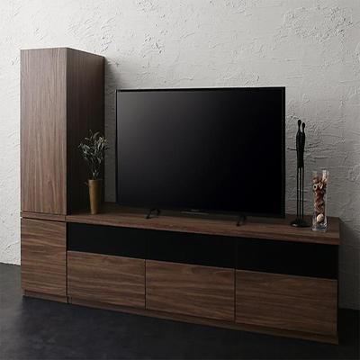 2点セット(テレビボード+キャビネット) 送料無料 W140 木扉 500027023 add9 アドナイン キャビネットが選べるテレビボードシリーズ