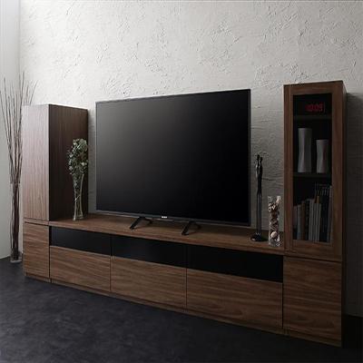 送料無料 キャビネットが選べるテレビボードシリーズ add9 アドナイン 3点セット(テレビボード+キャビネット×2) 木扉&ガラス扉 W180 500027032