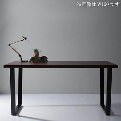 送料無料 天然木天板 スチール脚 モダンデザインテーブル Gently ジェントリー ブラウン V字脚 W120 500027473