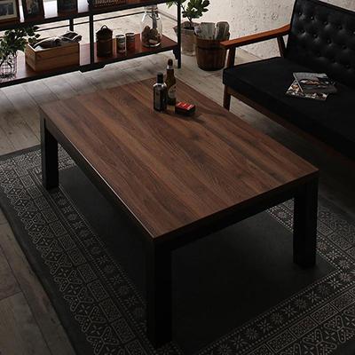 送料無料 ヴィンテージデザイン古木風こたつテーブル 7th Ave セブンスアベニュー 4尺長方形(80×120cm) 500027639