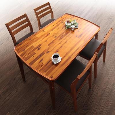 送料無料 天然木モダンデザインダイニング alchemy アルケミー 5点セット(テーブル+チェア4脚) W120 500027651