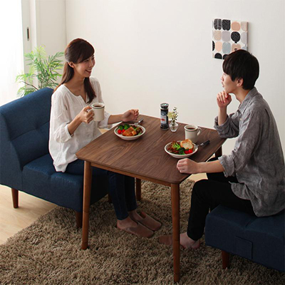 こたつ テーブル 正方形 75×75cm 4段階で高さが変えられる 天然木ウォールナット材高さ調整こたつテーブル Nolan ノーラン ブラウン 電気こたつ 炬燵テーブル 500027725