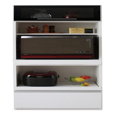 送料無料 完成品 大型レンジ対応 女性目線でデザインされたおしゃれキッチン収納 Aina アイナ レンジ台 500028064