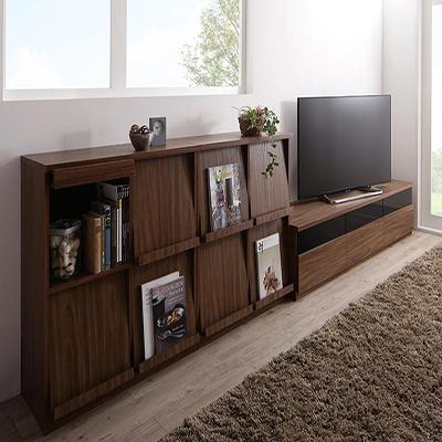 3点セット(テレビボード+フラップチェスト×2) リビングボードが選べるテレビ台シリーズ TV-line 幅180 送料無料 テレビライン 500028080
