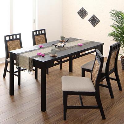 送料無料 アジアンモダンダイニングセット Kubera クベーラ 5点セット(テーブル+チェア4脚) W150 500028092