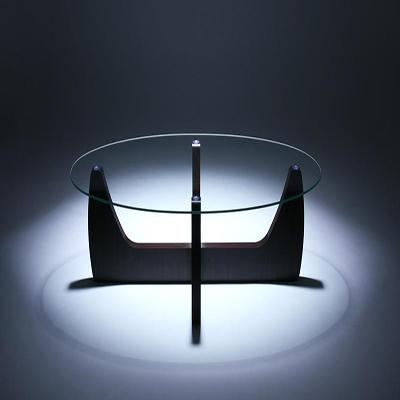 送料無料 送料無料ローテーブル テーブル ガラステーブル ガラス製 ガラス リビングテーブル 強化ガラス 木脚 オーバル 2WAYローテーブル -クルード- 家具通販 新生活 敬老の日 040100726