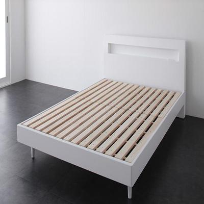 送料無料 すのこベッド セミダブル ベッド フレームのみ セミダブル サイズ スノコ 木製ベッド 宮付き 棚付き コンセント付き デザイン桐のすのこベッド アラモード ベッド下収納 ウェンジブラウン 白 ホワイト モダン おしゃれ かわいい 湿気対策 高級感 040102281