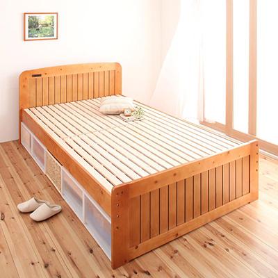 送料無料 高さが調節できるすのこベット コンセント付き 天然木すのこベット セミダブルベット セミダブルサイズ フィット・イン 木製ベット おしゃれ スノコベット すのこベッド スノコベッド カビ防止 湿気対策 通気性 ベット下大容量収納 収納スペース 北欧 寝室
