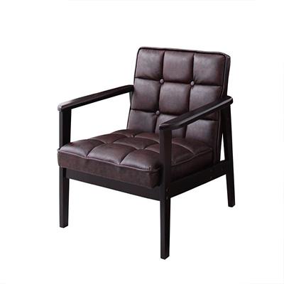 送料無料 ソファ アームチェア 1人掛け 肘掛け椅子 肘掛椅子 木肘ソファ アーティック 1P 一人掛けソファ 一人用 一人かけソファ 1人 ひとりかけ 木製ソファ イス 椅子 チェア チェアー 天然木 肘付き 肘つき 肘付 PVCレザー 一人暮らし コンパクト レトロ 040106370
