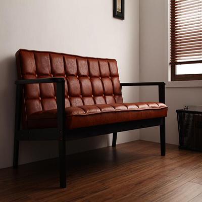 送料無料 ソファ アームチェア 2人掛け 肘掛け椅子 肘掛椅子 木肘ソファ アーティック 2P 二人掛けソファ 二人用 二人かけソファ 2人 ふたりかけ 木製ソファ イス 椅子 チェア チェアー 天然木 肘付き 肘つき 肘付 PVCレザー 一人暮らし コンパクト レトロ 040106371