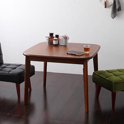 送料無料 ダイニングテーブル 幅90cm 2人用 テーブル 食卓テーブル ウォールナット 木製テーブル ダーニー 食卓机 食卓テーブル 天然木 木目 一人暮らし ワンルーム ホテル 民泊 シンプル レトロ モダン 北欧 おしゃれ 040106435