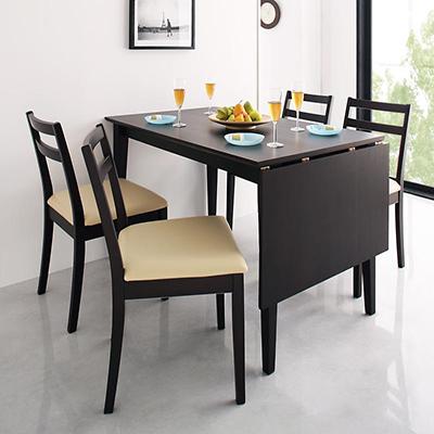 送料無料 ダイニング5点セット ダイニングテーブルセット エクステンションテーブル テーブル ダイニングテーブル ダイニングチェア 伸張式 伸縮式テーブル エクステンションテーブルダイニング -スワロー Lサイズ 5点セット- ナチュラル ダークブラウン 新生活 敬老の日