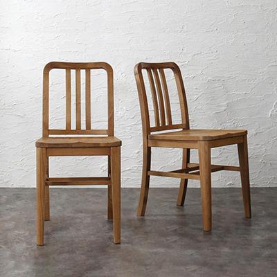 送料無料 ダイニングチェアのみ 2脚組 天然木 オーク材 ヴィンテージデザイン ダイニング Dryden ドライデン ダイニングチェアー 完成品 椅子 イス いす チェア チェアー ブラウン 500028548